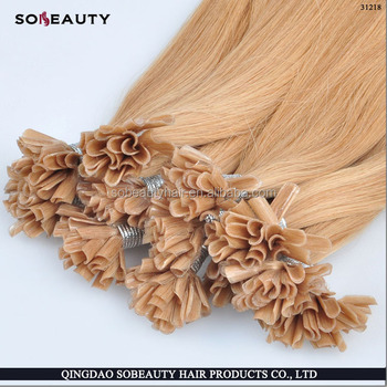 YBY 2016 New Arrival Last 12 Months Double Drawn Cuticle Aligned prebond u tip hair with italian karatin