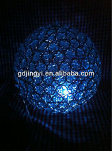 hand weaving LED RBG color changing iron ball with timer Xmas hanging decor