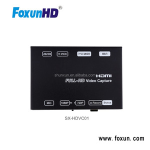 Newest SX-HDVC01 1080p Full HD HDMI HD encoder h.264 usb hdmi capture box