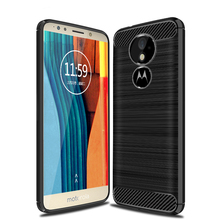 Brushed Back Cover Soft TPU Case For Moto G6 Play