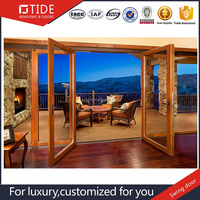 France Design Exterior Aluminum Wooden Doors
