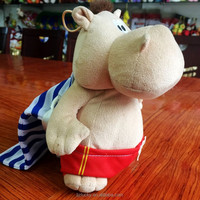 Plush Toy Wholesale,Lovely Hippopatamus With Colorful Bag,Super Soft Toy