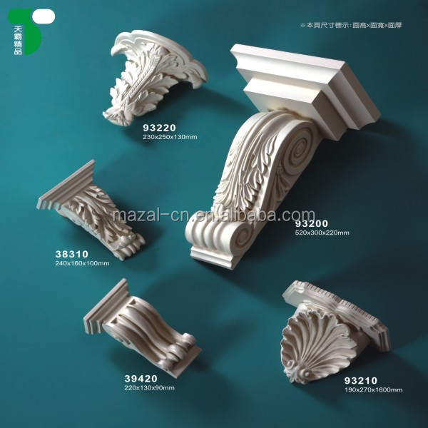 Cheap PU Exotic Corbel for Accessories in Fireplace