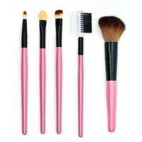 Professional Soft Basic 5Pcs Eye Makeup Cosmetic Foundation Blush Eyeshadow Liner Brushes Set Beauty
