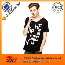 Popular black leisure letter printing t shirt for men