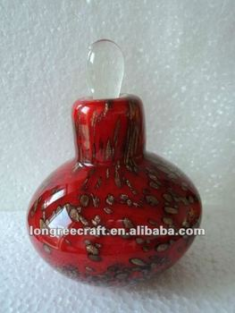 Murano Red Perfume Glass Bottle