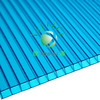 high quality blue polycarbonate hollow sheet with UV protection 8mm