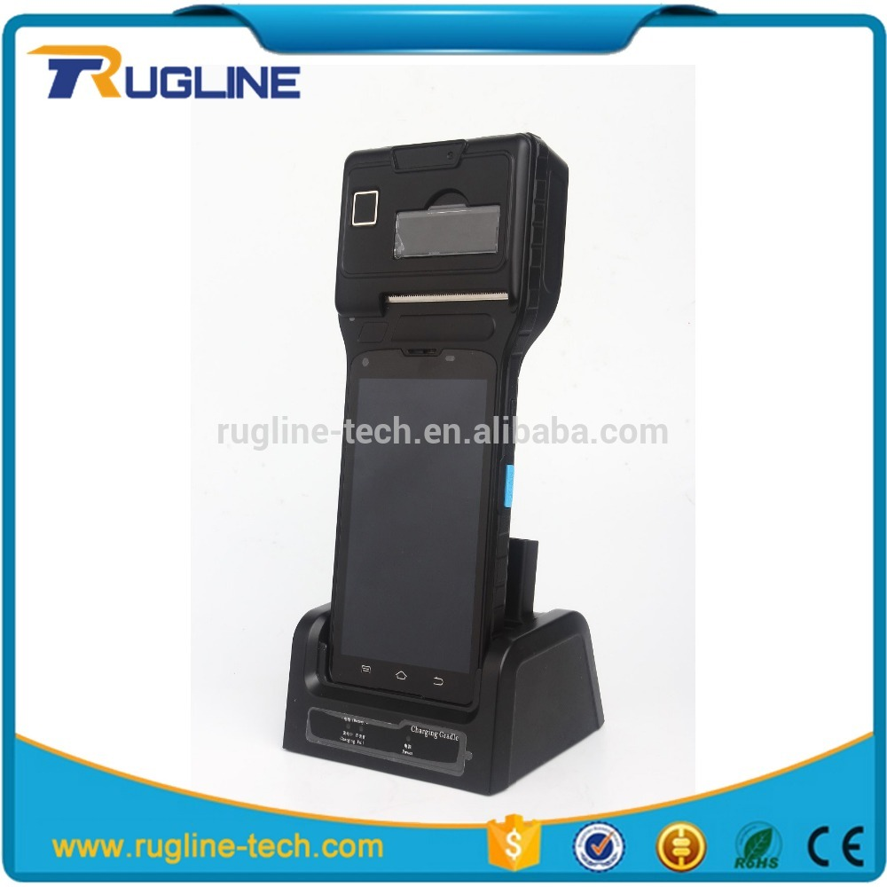 Barcode scanner Android 5.1 Operation System handheld thermal pos printer