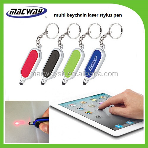 Multi led laser Touch Screen Stylus Pen with Key Chain Ring