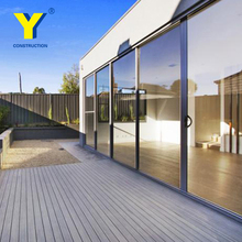 Soundproof double glass aluminium sliding door pictures , aluminum sliding door for living room , glass sliding door price