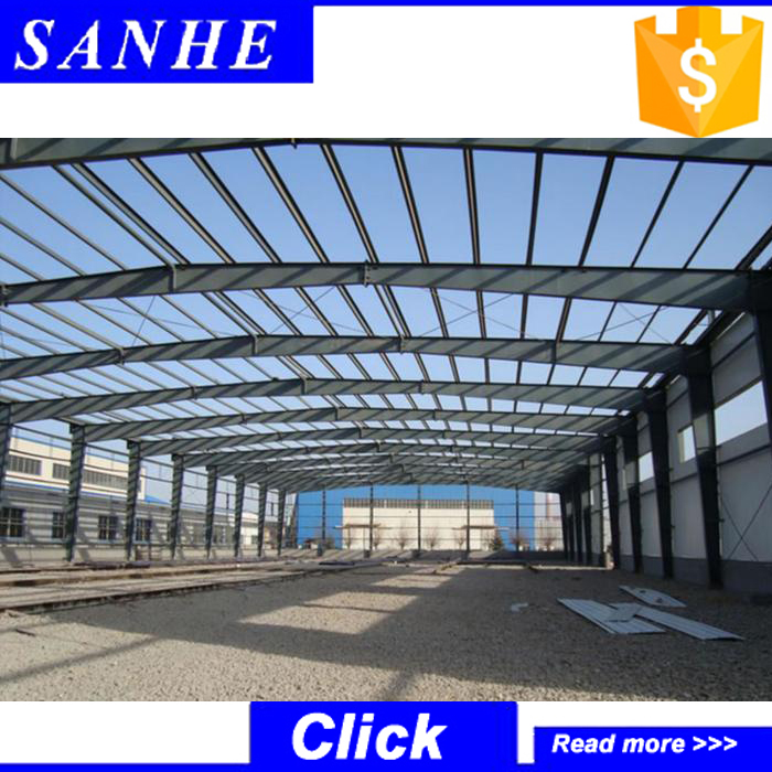 Factory price Large span prefabricated PEB industrial steel structure warehouse building
