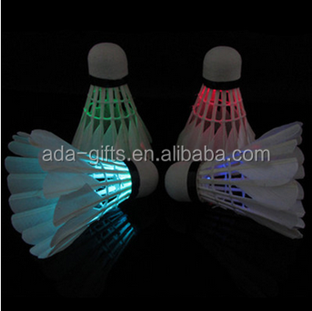 Outdoor Sports Equipment Led Flashing Badminton Led Colorful Light Shuttlecock