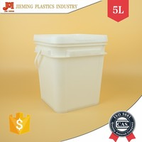 Quality Square Plastic Barrels, 5L Plastic Packaging Container, Rectangle Buckets with Secure Seal Lid