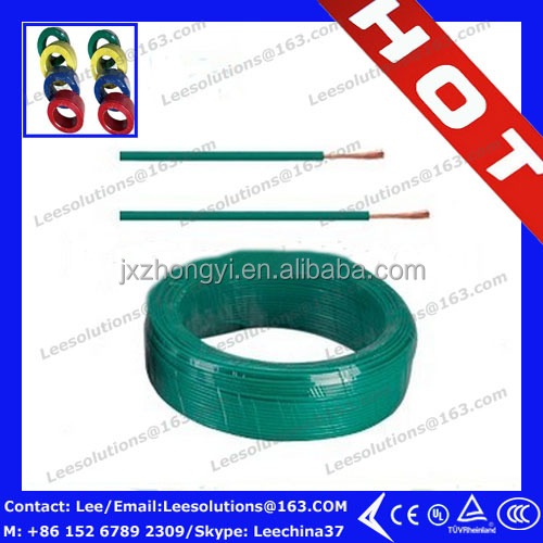 copper conductor house wiring electrical cable 1.5mm 2.5mm 4mm 6mm 10mm 16mm 20mm 25mm electric