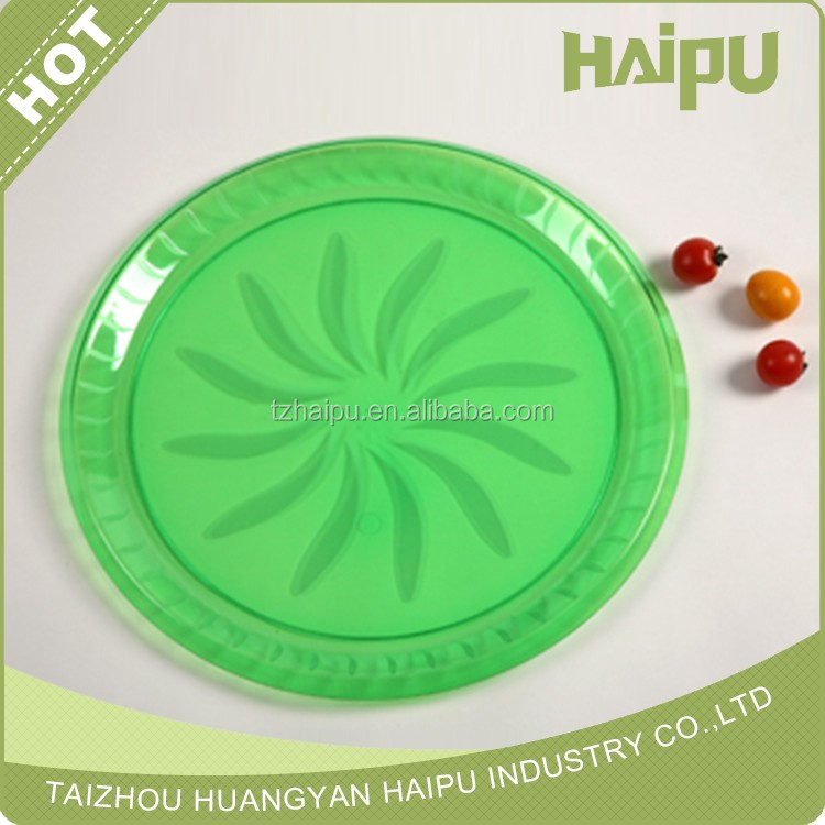 disposable plastic cutlery PS compartment tray Large size