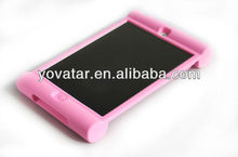 Dropproof &shockproof silicon rubber case for iPad mini for kids Pink