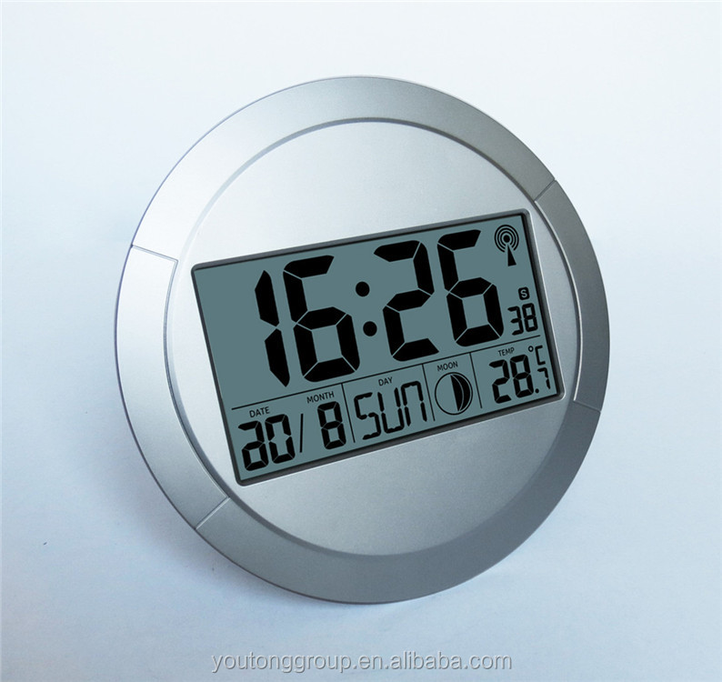 Radio Controlled Wall Clock,Loud Alarm Wall Clock With RCC Movement