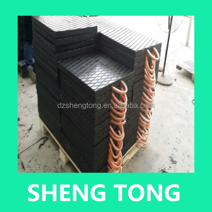 high wearproof plastic crane outrigger pad