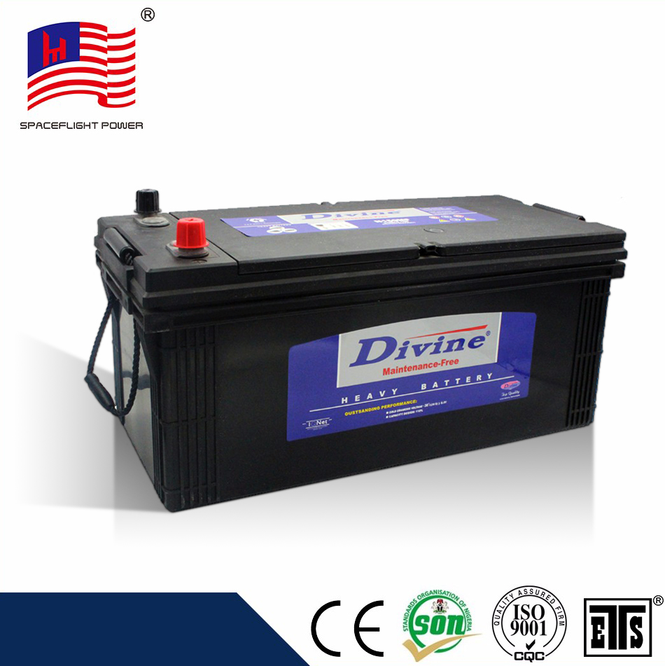 N150 jis heavy duty full capacity sealed lead acid battery for car and truck