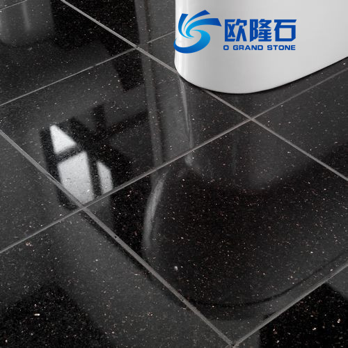 Black Quartz,Home Furnishing Black Quartz Stone Floor Tiles