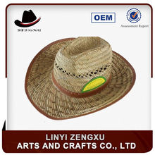 Paper straw handmade spray painted mesh cowboy hat