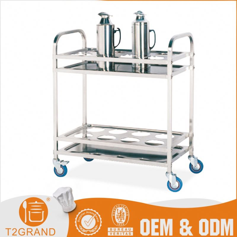 Customize Stainless Steel Antique Tea Trolley Cart Furniture