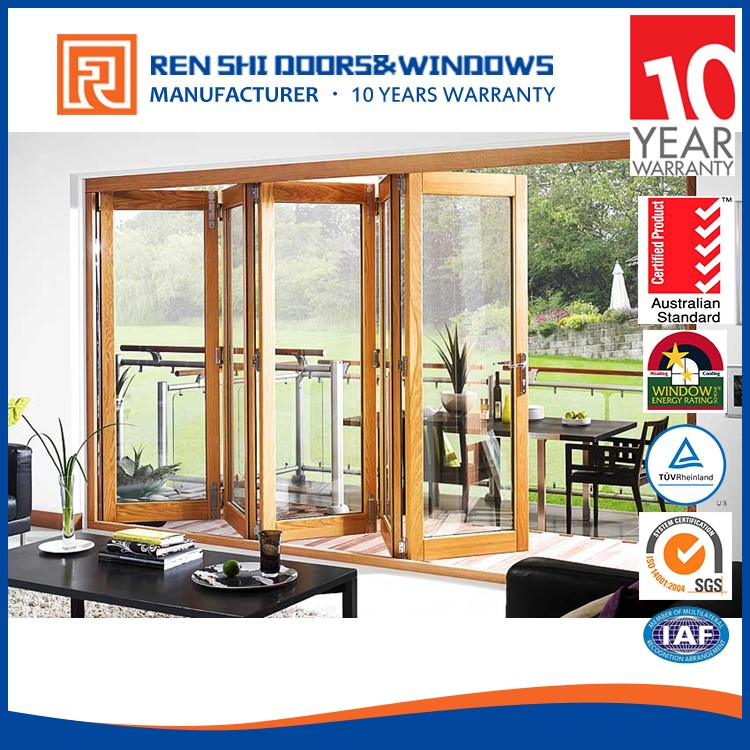 New design fire rating aluminium glass folding doors transparent