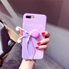 3D Macaroons candy color soft silicone IMD Phone Case For iPhone 6 6plus 7 7plus korea fashion pink mood back Cover Shell Coque