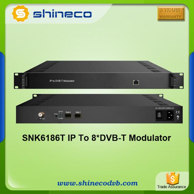 MMDS transmitting System IP to 8xDVB-T Modulator