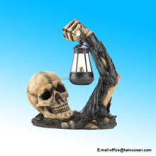 Gifts & Decor Sinister Skull Candle Holder with Lantern Halloween Party Decoration