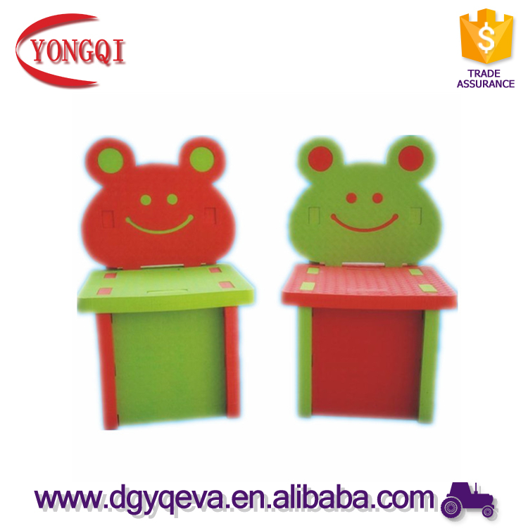 Cartoon Frog Design Children Furniture Clear Kids Foam Chair