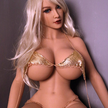 Realistic full body Solid Silicone big breast fat ass shemale european mature women love Sex Doll(153cm)