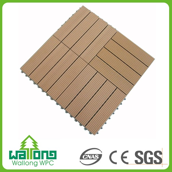 2016 new wpc decking parquet flooring laminated light color floor tile