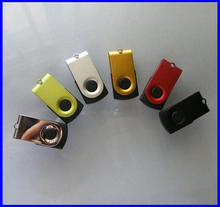 Promotional Gift Rotating Waterproof USB Flash Drive 2GB 4GB 8GB 16GB 32GB 64GB Swivel Metal Mini USB Stick Memory