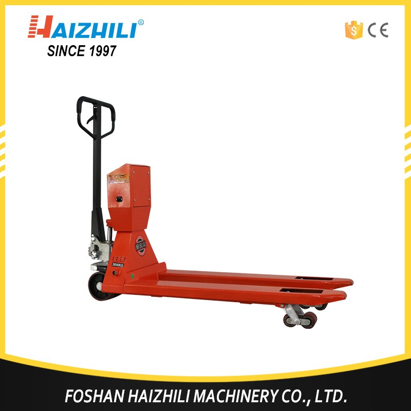 Factory price pallet jack electronic handing truck scale