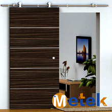 Sliding barn wood door hardware safety door design with grill