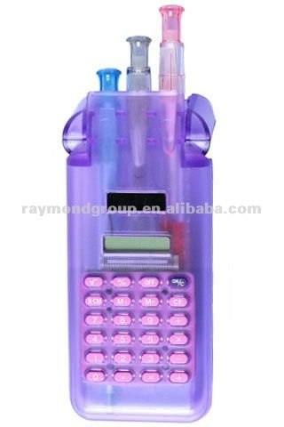 2012 calculator with ball pen colorful
