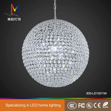 big modern luxury LED ball shape crystal chandelier