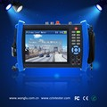 Best quality camera installation tool AHD TVI CVI SDI IP Analog six in one cctv tester with POE power supply