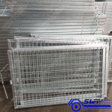Wire mesh cage for trailer