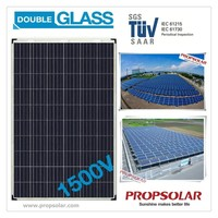 Propsolar Double glass transparent solar panel 250w with cheap price and 30 years product warranty
