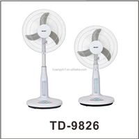Hot Selling Brand LED System Emergency Rechargeable Fan Air Cooling Stand Fan with Solar