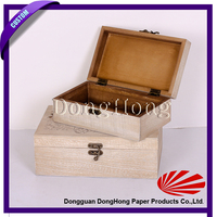 Antique looking logo printed wooden boxes wine packing