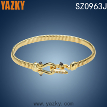 unique design open bangle with zircons 18k gold plated bangle bangle bracelet fashionable jewelry