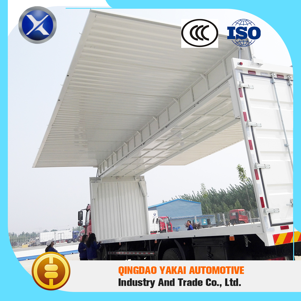 Leading level hot sell wing open cargo box van truck body