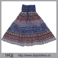 2015 Lady Bohemia/ gypsy Printed Paisley Tunic Top Colorful short and long skirt
