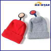 HZM-1431409 beautiful color woven children's soft acrylic warm knitted hat
