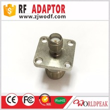 zhenjiang TNC female connector to SMA female flange 4 hole rf adaptor connector