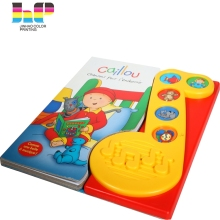 cheap price Directly factory Print Children learn sound books with music model button for kids