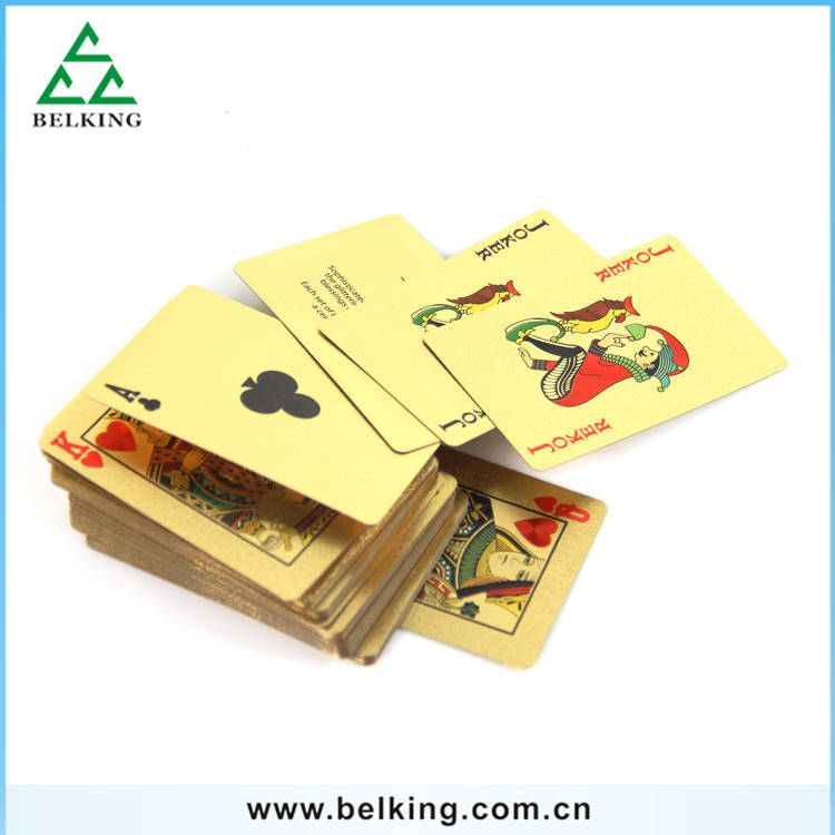 Luxury Game Playing Cards 24K Golden PVC Matte Poker Card